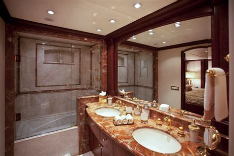 lavish bathroom keri lee iii yacht charter details trinity yachts charterworld luxury superyachts