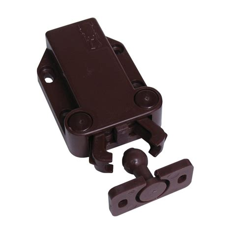 kitchen cabinet magnetic latches shop sugatsune brown magnetic cabinet latch at lowes com