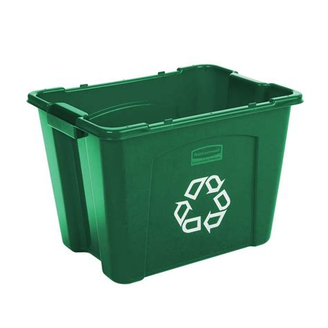 Home Decor Items For Sale by Rubbermaid Commercial Products 14 Gal Green Recycling Bin