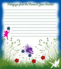 notepaper from the fairies in your garden rooftop post