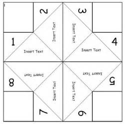 fortune teller template fortune teller template editable by middle school math