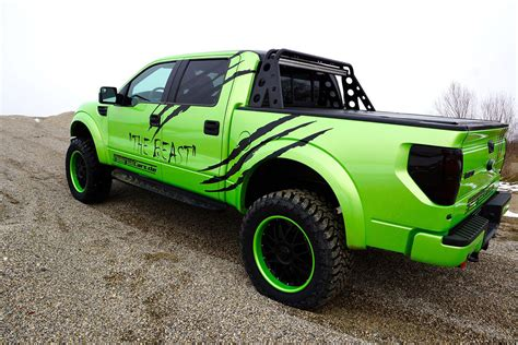 green ford raptor geiger cars ford svt raptor is a beastly green bruiser