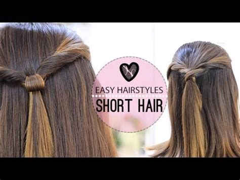 easy hairstyles for short hair youtube easy hairstyles for short hair youtube