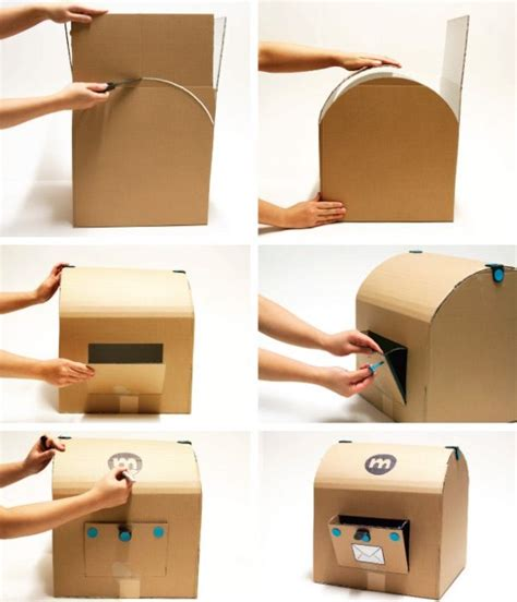How To Make Letter Box With Paper - 10 awesome ways to repurpose cardboard boxes for