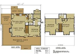 Cottage Design Plans 2 Bedroom Cabin With Loft Plan Studio Design Gallery