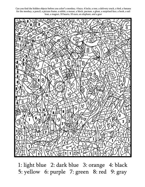color by number coloring pages hard difficult color by number printables coloring home