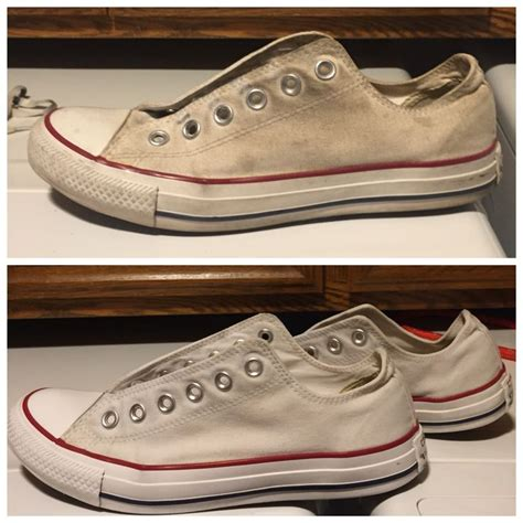 how to wash sneakers in the washing machine cleaning white converse 1 mix 1 cup of baking soda and 1