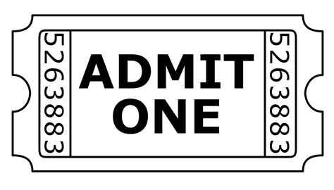 admit one ticket invitation template free digists