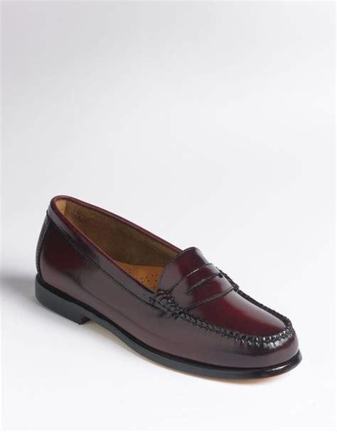 bass wayfarer loafers bass wayfarer loafers in brown burgundy b lyst