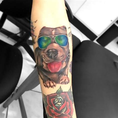 sunglasses tattoo designs pitbull with sunglasses idea