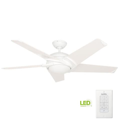 54 casablanca stealth ceiling fan casablanca stealth 54 in indoor white ceiling fan