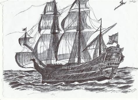 pirate ship a sketch for a how to pirate ship by dhinu de arts on