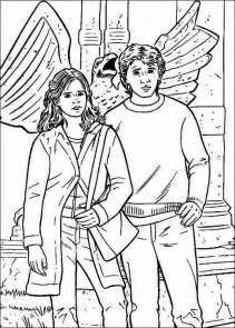 harry ron hermione coloring pages