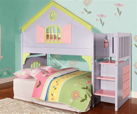 doll house bunk bed 0300 doll house stair stepper loft bunk bed discovery