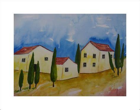 haus malen aquarelle landschaft landschaftsaquarell malen kunst