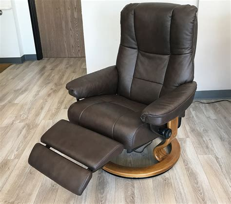 recliner footrest stressless mayfair legcomfort paloma chocolate leather