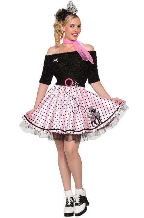polka dot poodle skirt adult costume purecostumescom