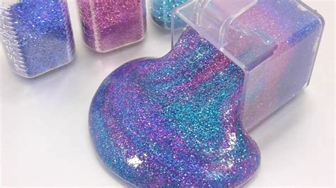 Clear Galaxy Slime By E C S how to make glitter galaxy clay slime recipe diy toys
