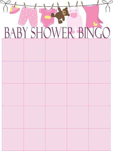 free blank baby shower bingo card template free blank baby bingo cards search results calendar 2015