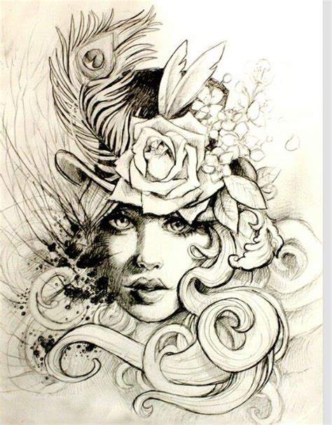 tattoo girl sketch love this sketch 1920 s inspired tattoo tattoo ideas