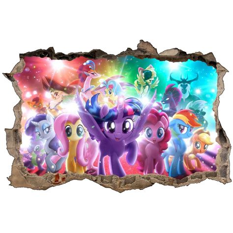 Stiker Sticker Pony stickers 3d my pony r 233 f 52467 stickers muraux enfant