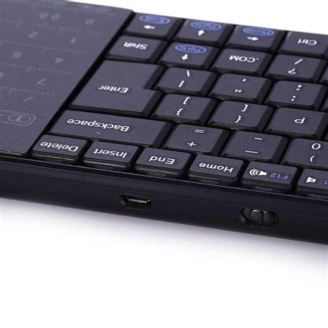 Bluetooth Keyboard With Mousepad And Touch Numpad Bt10 Black 1 bluetooth keyboard dengan mouse pad touch numpad bt10 black jakartanotebook