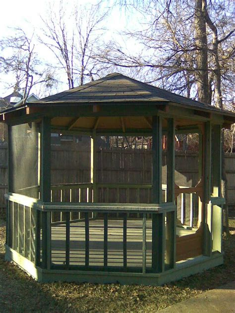 gazebo screen house backyard screen houses pergolas and gazebos on