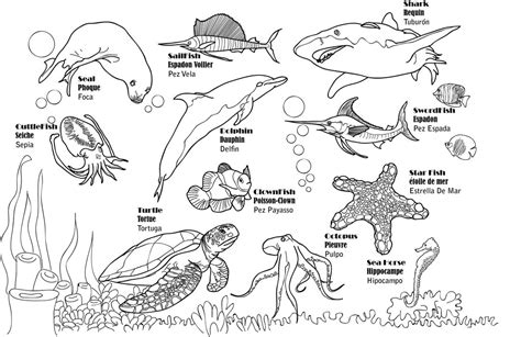 aquarium free coloring pages
