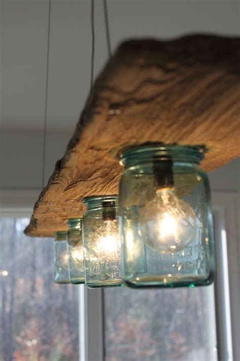 Driftwood Light Fixture by Driftwood And Antique Jar Hanging Light Cool Ideas