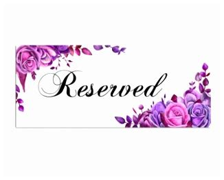reserved seating signs template reserved table tents simple wedding reserved seating signs