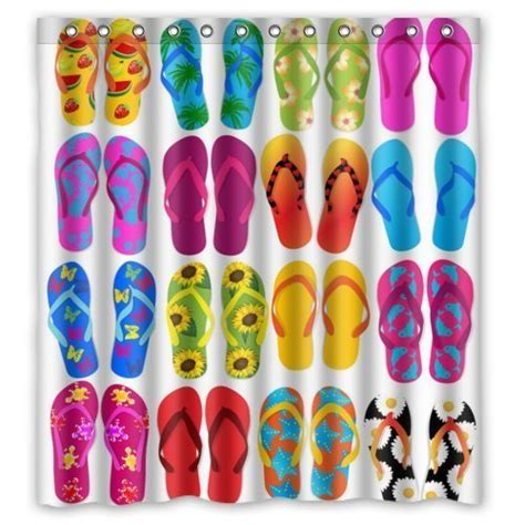 flip flop shower curtains waterproof polyester flip flop bathroom fabric shower