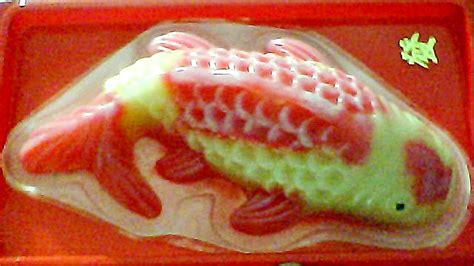 new year fish cake koi fish shaped rice cake