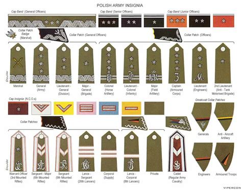 navy uniform rank insignia wwii ranks and insignia of the polish army military