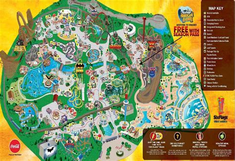 six flags great america park map wypages