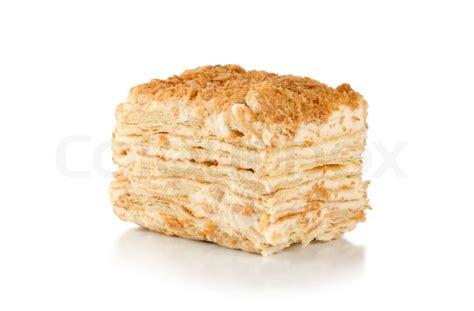 bild auf kuchen stock bild kuchen napoleon isoliert auf wei 223 em