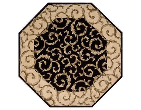 octagon rug 6 nourison versailles palace 6 octagon black area rug