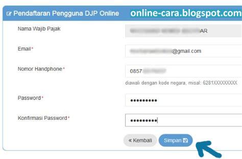 cara registrasi efiling pajak cara daftar pajak online e filing cara online
