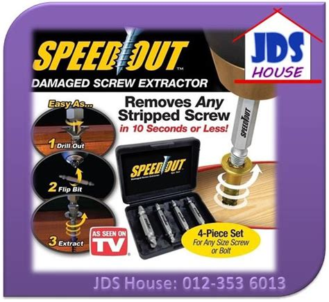 speed out damage extractor broken bolt removal tool