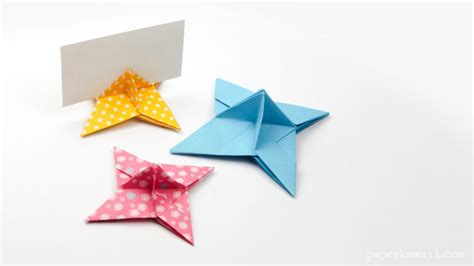 Origami Place Card - origami place card holder paper kawaii