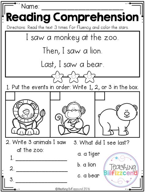printable games for kindergarten reading free 3rd grade reading sequencing worksheets reading