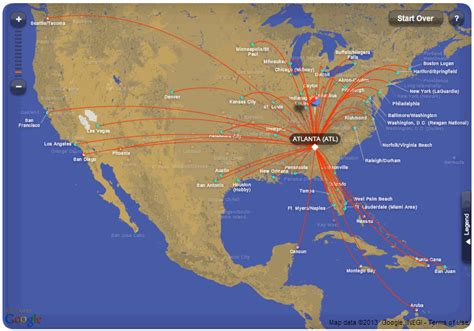 airline hubs of north america kids maps southwest airlines route map from atlanta