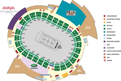 what are club level seats keybank club level map pepsi center