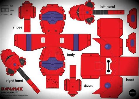Voltes V Papercraft - papermau big 6 baymax paper in dumpy style