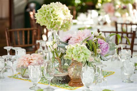 hydrangea wedding centerpieces decorate in a