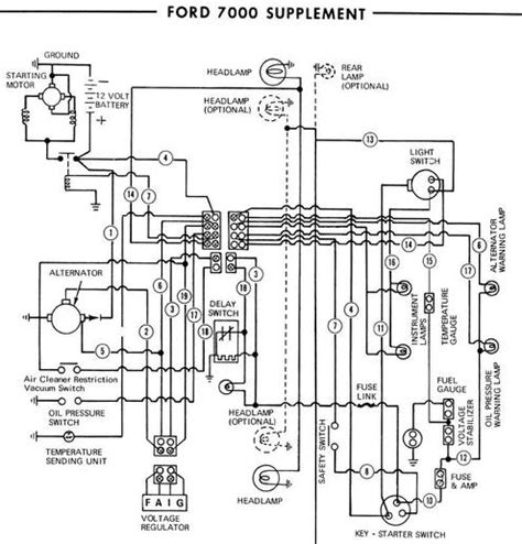 ford tractor altenator wiring diagram 37 wiring diagram