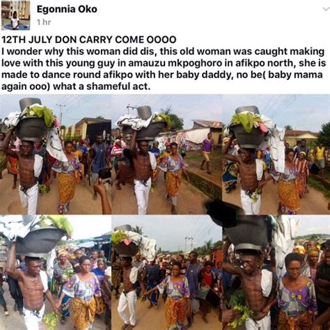 disgraced forced to marry shame villagers disgrace old woman and her young lover caught bonking in ebony state