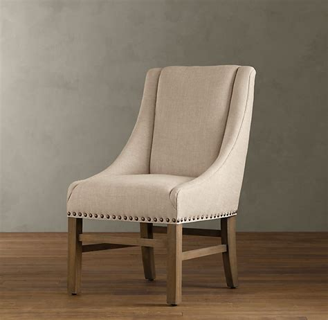 restoration hardware nailhead upholstered chair decor