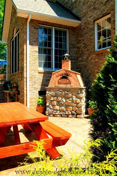backyard pizza oven diy patio and porch decorating and diy ideas debbiedoos