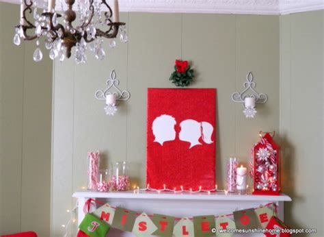 christmas arts and crafts ideas craft ideas the mistletoe silhouette wall huffpost