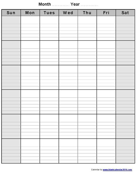 Calendar Template Monthly With Lines 8 Best Images Of Blank Calendar Template With Lines